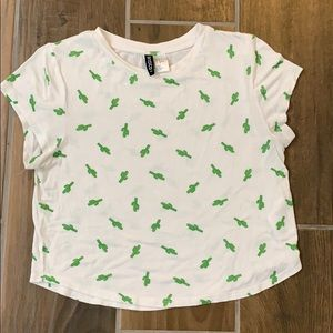 Divided Cactus crop top